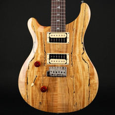PRS SE Custom 24 Left-Handed Exotic Top in Spalted Maple/Natural with Gig Bag #S11351