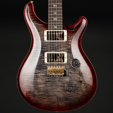 PRS Custom 24 Wood Library in Charcoal Cherry Burst with Artist Top, Stained Flame Maple Neck, 58/15 Pickups #258277