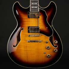 Ibanez AS153 Artstar Semi-Hollow Electric Guitar in Antique Yellow Sunburst with Case - Pre-Owned