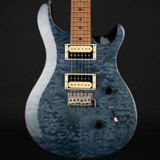 PRS SE Custom 24 Quilt with Torrified Maple Neck in Whale Blue #T02261