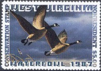 West Virginia Duck Stamp 1987 Canada Geese Non Resident