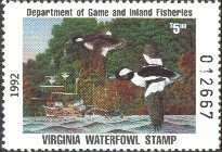 Virginia Duck Stamp 1992 Buffleheads