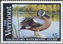 Vermont Duck Stamp 1998 Blue - Winged Teal