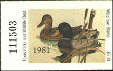 Texas Duck Stamp 1981 Mallards