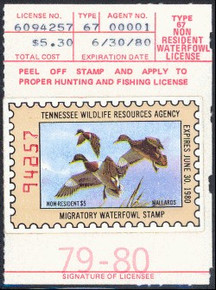 Tennessee Duck Stamp 1979 Mallards Non Resident