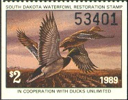 South Dakota Duck Stamp 1989 Mallards