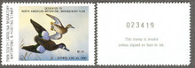 South Carolina Duck Stamp 1989 Blue - Winged Teal Hunter variety with serial # on reverse