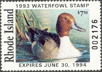 Rhode Island Duck Stamp 1993 Pintails