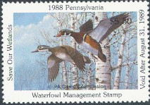 Pennsylvania Duck Stamp 1988 Wood Ducks