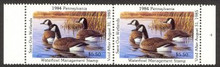 Pennsylvania Duck Stamp 1984 Canada Geese Horizontal Pair