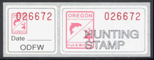 Oregon Duck Stamp 1989 Black Lab / Pintail Temp stamp (red)