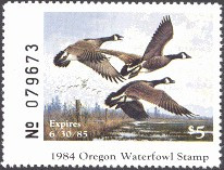 Oregon Duck Stamp 1984 Canada Geese