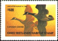 Ohio Duck Stamp 1989 Canada Geese