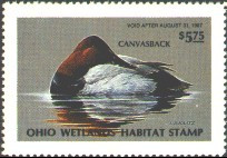 Ohio Duck Stamp 1986 Canvasbacks
