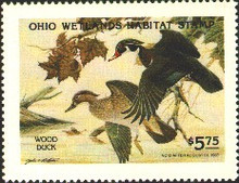 Ohio Duck Stamp 1982 Wood Ducks
