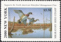 New York Duck Stamp 2000 Wood Duck