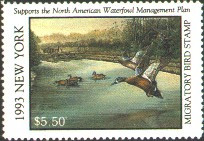 New York Duck Stamp 1993 Blue - Winged Teal