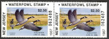 New Jersey Duck Stamp 1987 Canada Geese Booklet Pair