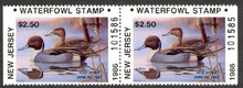 New Jersey Duck Stamp 1986 Pintails Booklet Pair