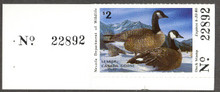 Nevada Duck Stamp 1985 Canada Geese Collector with serial number tab