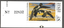 Nevada Duck Stamp 1984 Pintails Collector with serial number tab
