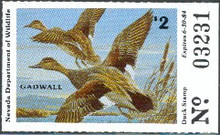 Nevada Duck Stamp 1983 Gadwalls
