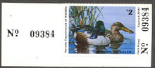 Nevada Duck Stamp 1982 Shovelers Collector with serial number tab