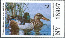 Nevada Duck Stamp 1982 Shovelers