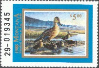 Montana Duck Stamp 1988 Mallards