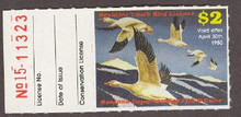 Montana Duck Stamp 1979 Snow Geese 2.00 Junior