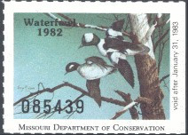 Missouri Duck Stamp 1982 Buffleheads