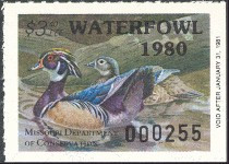 Missouri Duck Stamp 1980 Wood Ducks