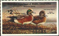 Mississippi Duck Stamp 1986 American Wigeon