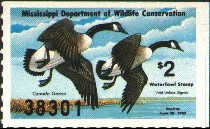Mississippi Duck Stamp 1982 Canada Geese