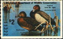 Mississippi Duck Stamp 1981 Redheads