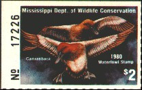 Mississippi Duck Stamp 1979 Canvasbacks