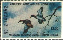 Mississippi Duck Stamp 1977 Mallards