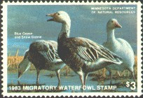 Minnesota Duck Stamp 1983 Blue & Snow Geese