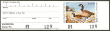 Michigan Duck Stamp 1979 Canada Geese full tab attached