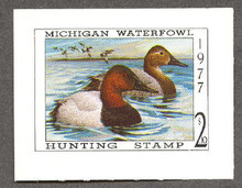 Michigan Duck Stamp 1977 Canvasbacks