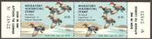 Maryland Duck Stamp 1978 Redheads Horizontal Pair with serial numbers