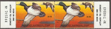 Maryland Duck Stamp 1977 Greater Scaup Horizontal Pair with serial numbers