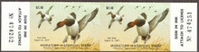 Maryland Duck Stamp 1976 Canvasbacks Horizontal Pair with serial numbers