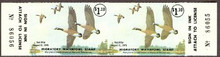 Maryland Duck Stamp 1975 Canada geese Horizontal Pair Yellow Wing Variety