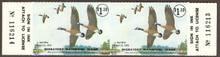 Maryland Duck Stamp 1975 Canada geese Horizontal Pair with serial numbers