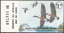 Maryland Duck Stamp 1975 Canada geese