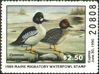 Maine Duck Stamp 1989 Common Goldeneyes