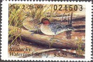 Kentucky Duck Stamp 1992 Green - Winged Teal