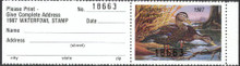 Kentucky Duck Stamp 1987 Black Ducks with full tab