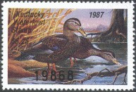 Kentucky Duck Stamp 1987 Black Ducks